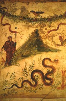 Fresque vesuve 1ersiecle pompei musee naples