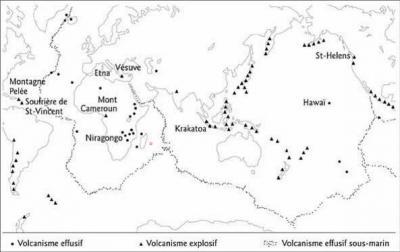 Repartition des volcans 2